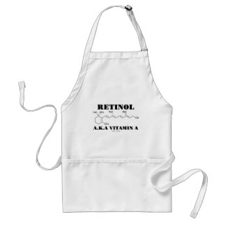 Retinol A.K.A. Vitamin A (Chemical Molecule) Aprons