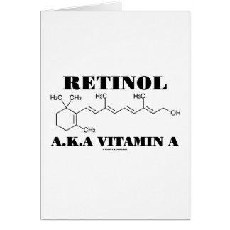 Retinol A.K.A. Vitamin A (Chemical Molecule) Greeting Card