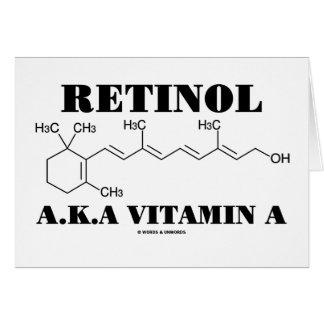 Retinol A.K.A. Vitamin A (Chemical Molecule) Greeting Cards