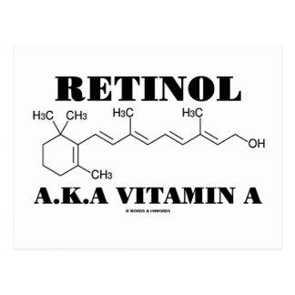Retinol A.K.A. Vitamin A (Chemical Molecule) Post Card