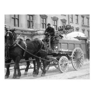 Retirada de la nieve 1908 postal