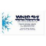 retirada de la nieve blanca del cielo tarjetas de visita