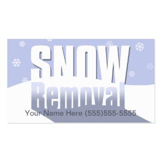 Retirada de la nieve que comercializa la plantilla tarjetas de visita