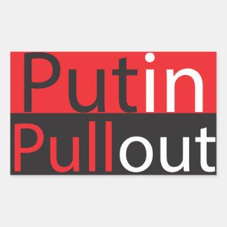 Retirada de Putin Pegatina Rectangular