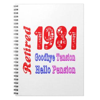 Retirado 1981, adiós pensión de la tensión hola libros de apuntes