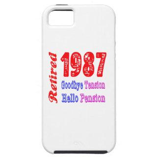 Retirado 1987 adiós pensión de la tensión hola iPhone 5 Case-Mate fundas