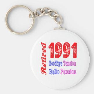 Retirado 1991 adiós pensión de la tensión hola llavero