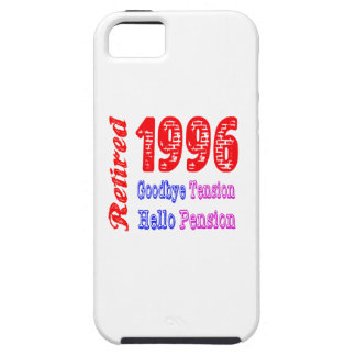 Retirado 1996, adiós pensión de la tensión hola iPhone 5 Case-Mate cárcasa
