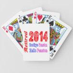 Retirado 2014, adiós pensión de la tensión hola baraja cartas de poker