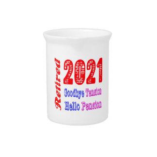 Retirado 2021, adiós pensión de la tensión hola jarrón