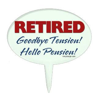Retirado: ¡Adiós pensión de la tensión hola! Figura Para Tarta