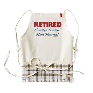 Retirado: ¡Adiós pensión de la tensión hola! Delantal Zazzle HEART