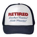 Retirado: ¡Adiós pensión de la tensión hola! Gorras De Camionero