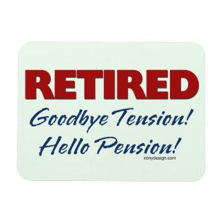 Retirado: ¡Adiós pensión de la tensión hola! Iman De Vinilo