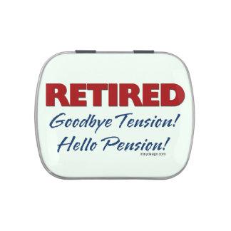 Retirado: ¡Adiós pensión de la tensión hola! Frascos De Dulces