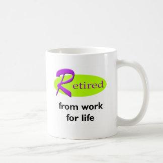 Retirado de trabajo taza de café