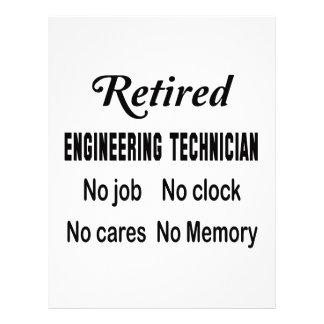 Retirado dirigiendo al técnico ningún trabajo membrete personalizado