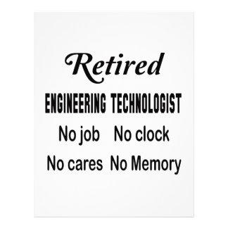 Retirado dirigiendo al tecnólogo ningún trabajo membrete a diseño