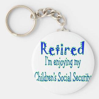 """Retirado """"disfrutando de mi Seguridad Social de lo Llavero Redondo Tipo Pin"""
