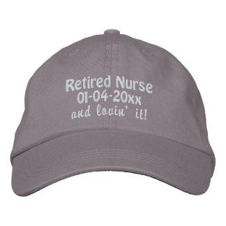 Retirado Enfermera-Personalice la fecha del retiro Gorra De Beisbol Bordada