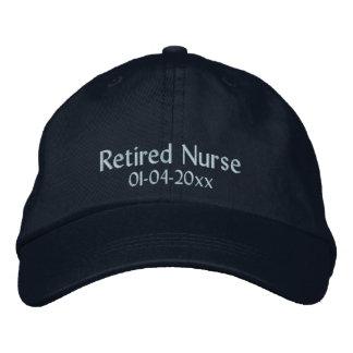 Retirado Enfermera-Personalice la fecha Gorra De Beisbol