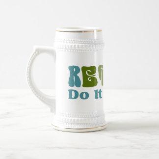 Retirado hágalo usted mismo tazas de café