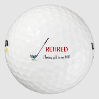 """""""Retirado - jugar a golf es pelota de golf y club Pack De Pelotas De Golf"""