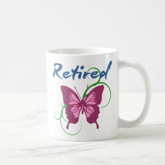 Retirado (mariposa) taza básica blanca