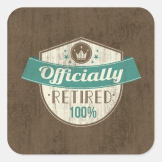 Retirado oficialmente, retiro del vintage del 100 pegatina cuadrada