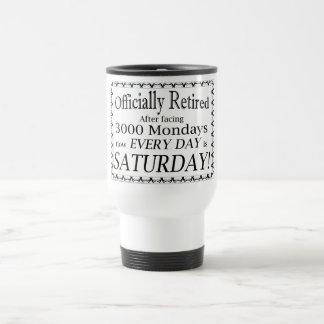 Retirado oficialmente taza de café