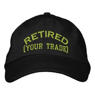 ¡Retirado personalícelo!  Casquillo bordado Gorras De Beisbol Bordadas