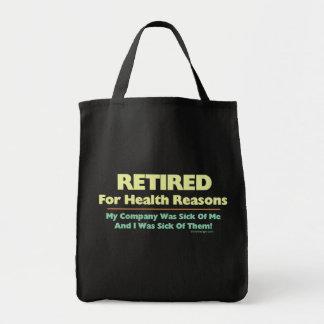 Retirado por razones de la salud bolsas