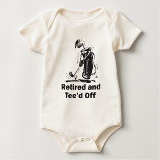 Retirado y Tee'd apagado Body Para Bebé