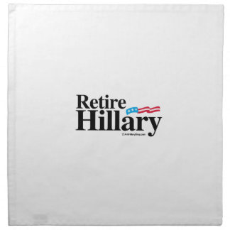 Retire a Hillary Servilletas Imprimidas