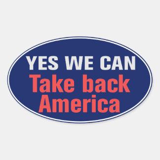 Retire al pegatina de América