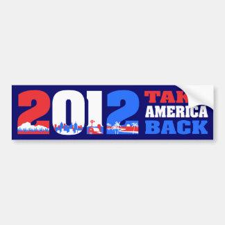Retire América 2012 Pegatina Para Auto