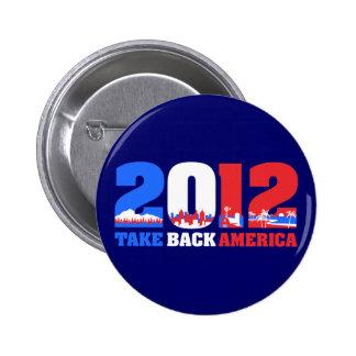 Retire América 2012 Pin Redondo De 2 Pulgadas