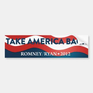 Retire América Romney/la pegatina para el parachoq Pegatina Para Auto