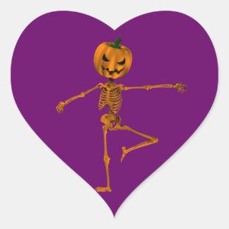 Retire Ballet Position Heart Sticker