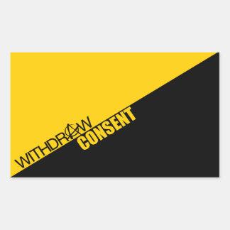 Retire el consentimiento (el Anarcho-Capitalismo) Rectangular Pegatina