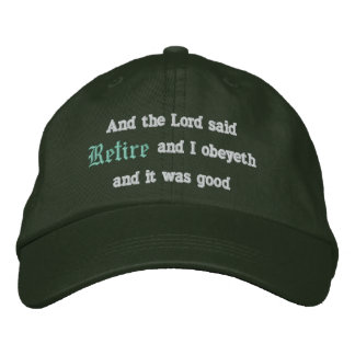Retire Embroidered Baseball Hat