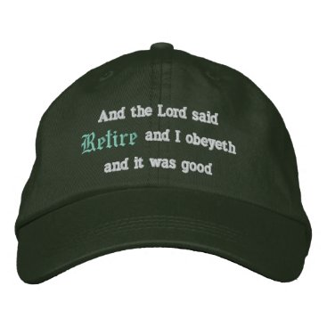 retirements Retire Embroidered Baseball Hat