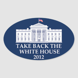 Retire la Casa Blanca - 2012 Pegatina Ovalada