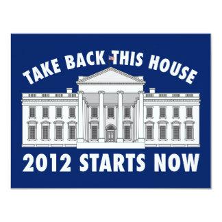 """Retire la Casa Blanca Invitación 4.25"""" X 5.5"""""""