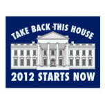 Retire la Casa Blanca Postal
