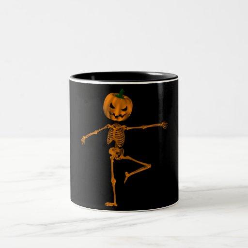 Retire la posición de ballet taza de café de dos colores