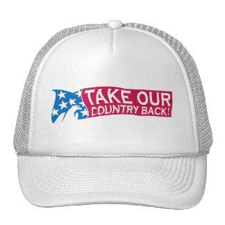 Retire nuestro país gorros bordados