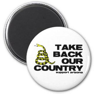 retire nuestro país imán redondo 5 cm
