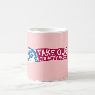 Retire nuestro país tazas de café