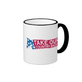 Retire nuestro país taza de café
